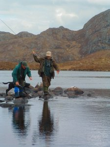 Fishing for wild trout in the hills of Gairloch
