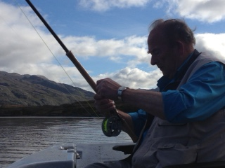 Ian Cross on Loch Maree, September 2016 (photo by Sue Pomeroy)