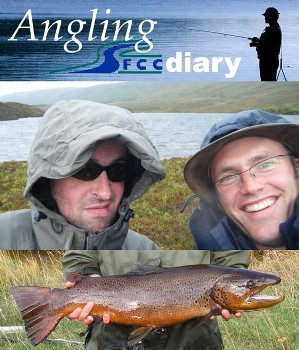 Kenny Gault and James Hunt (diary developers) by a Wester Ross Trout loch in 2011.